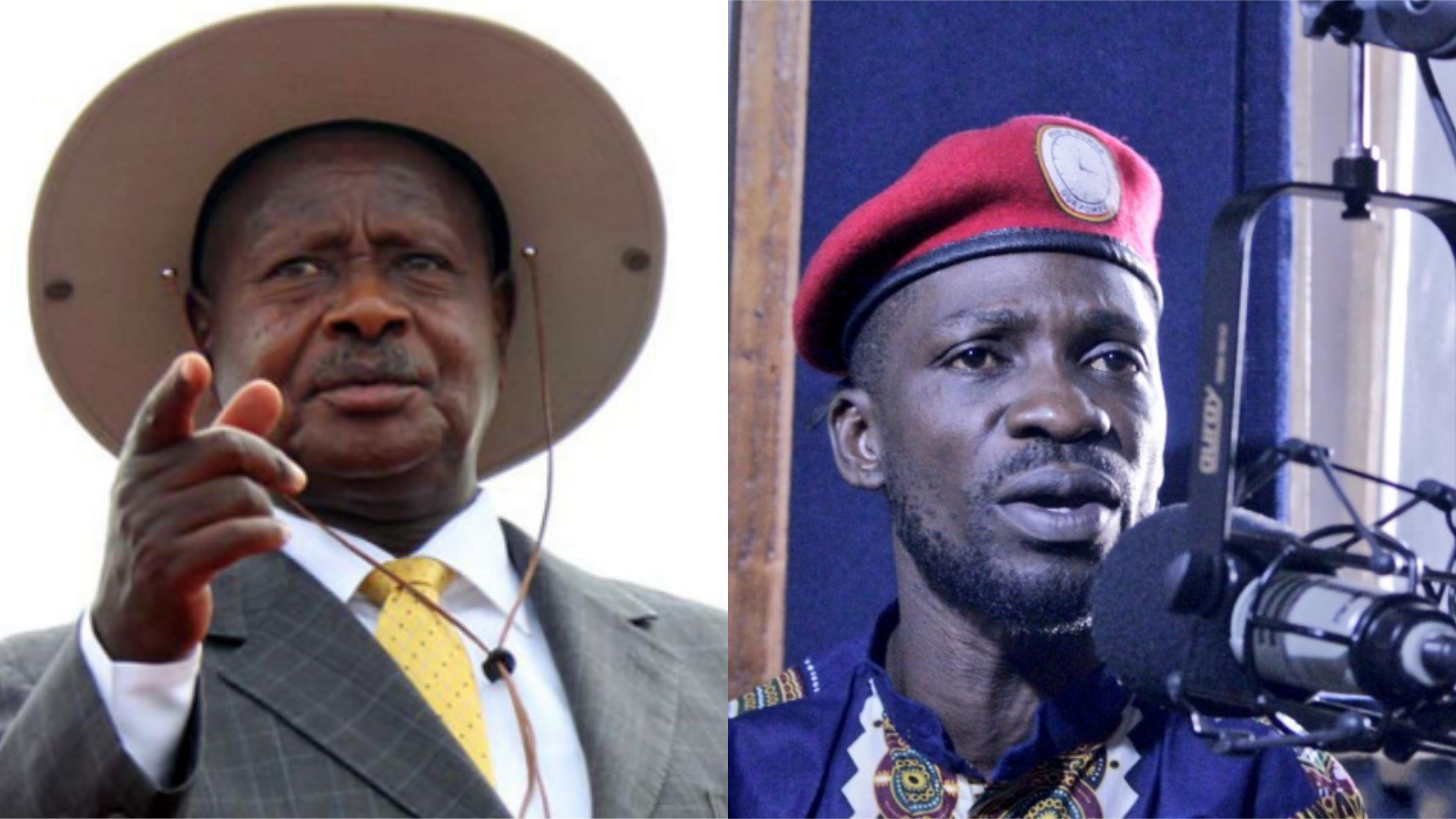 museveni bobi wine - Viral video of KU students shouting Bobi Wine to President Museveni